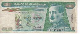 BILLETE DE GUATEMALA DE 1 QUETZAL DEL AÑO 1989 (BANKNOTE) - Guatemala