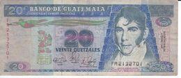 BILLETE DE GUATEMALA DE 20 QUETZALES DEL AÑO 1989 (BANKNOTE) - Guatemala