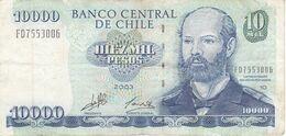 BILLETE DE CHILE DE 10000 PESOS DE DEL AÑO 2003 (BANK NOTE) - Cile