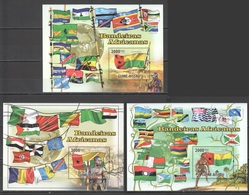 BC766 2010 GUINE GUINEA-BISSAU AFRICAN FLAGS 3BL MNH - Flaggen
