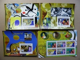 SALE! GUINEA 2007 3 M/s & Sheetlet Art Paintings Painter Joan Miro Pablo Picasso Salvador Dali - Guinea (1958-...)