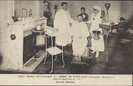 Guerre 14 18 CPA Croix Rouge Britannique Et Ordre De Saint Jean Hôpital Bénévole N°4 Bis Service Dentaire - Guerra 1914-18