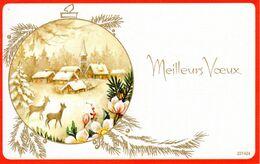 CP Fetes Voeux Nouvel An Meilleurs Voeux Bonne Année Neige Dessin Hiver Boule 1984 - Año Nuevo