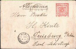 ! 1925 Old Meter Cancel Cover, Freistempel Brief Aus Montevideo Uruguay Nach Duisburg - Uruguay