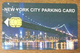 USA ÉTATS-UNIS NEW YORK CITY PARKING CARD PHONECARD TELECARTE CARD - United States