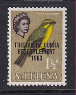 Tristan Da Cunha: 1963   Tristan Resettlement OVPT   SG56    1½d     MH - Tristan Da Cunha