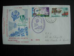 Belgique. Braine-le-Comte: Départ  Le 1.5.1979.. Cachet D'arrivée  Trazegnies. Série Europa 1930/31 - Fesselballons