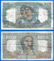 France 1000 Francs 1949 17 Fevrier Prefix S Minerve Hercule Que Prix + Port Grand Billet Frcs Frc Paypal - 1871-1952 Antichi Franchi Circolanti Nel XX Secolo