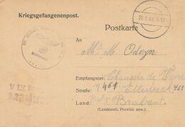 Prisonnier Belge / Avis De Capture Stalag XI A Vers Etterbeek / Griffe Non Encadrée Zensiert Stalag XIA - Briefe U. Dokumente