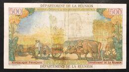 La Reunion 10 Nouveaux Francs On 500 Francs 1967 Pick#54b Restaurata  Lotto 3101 - Réunion