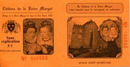 Château De La Reine Margot à Saint-Projet (Tarn Et Garonne - France) - Toegangskaarten