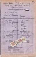 16 . CHARENTE . FACTURE / LETTRE . JARNAC . PETROLE DESMARAIS FRERES . 1917 - 1900 – 1949