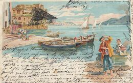 NAPOLI-PALAZZO DONNA ANNA-LITOGRAFICA TIPO GRUSS--CARTOLINA VIAGGIATA IL 9-11-1905 - Napoli (Naples)