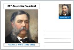 "US Presidents - Souvenir Postcard (glossy 6"" X 4"" [15cm X 10cm] Card) - Chester A Arthur AMERICANA - Other Famous People"
