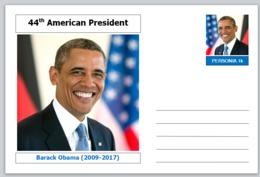 "US Presidents - Souvenir Postcard (glossy 6"" X 4"" [15cm X 10cm] Card) - Barack Obama AMERICANA - Other Famous People"