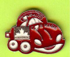 Pin's Carburant Petro-Canada Lave-Auto Car Wash Voiture Rouge - 4C17 - Carburants