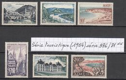 France Série Touristique (1954)  Y/T Série 976/981 Neufs ** à 15% De La Cote - Unused Stamps