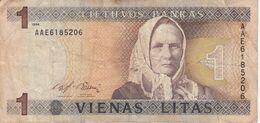 BILLETE DE LITUANIA DE 1 LITAS DEL  AÑO 1994   (BANKNOTE) - Lithuania