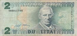 BILLETE DE LITUANIA DE 2 LITAS DEL  AÑO 1993   (BANKNOTE) - Lithuania