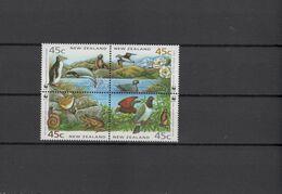 New Zealand 1993 WWF Endangered Animals, Birds Block Of 4 MNH - Unused Stamps