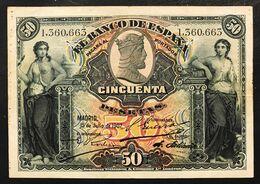 Spagna Espana Alfonso Xiii 50 Pesetas 1907 Vf LOTTO 3105 - [ 3] 1936-1975 : Regime Di Franco