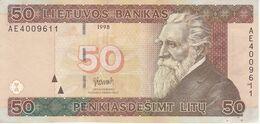 BILLETE DE LITUANIA DE 50 LITU DEL  AÑO 1998 CALIDAD MBC (VF)  (BANKNOTE) - Lithuania
