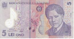 BILLETE DE RUMANIA DE 5 LEI DEL AÑO 2005 (BANK NOTE) POLIMERO - Romania