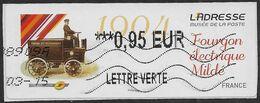 2012 - L'Adresse Musée De La Poste - Forgon Electrique Milde - Oblitéré - 2010-... Illustrated Franking Labels