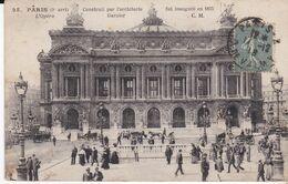 CPA PARIS L' OPERA CONSTRUIT PAR L' ARCHITECTE GARNIER - Distretto: 09