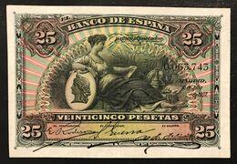 Spagna Espana Alfonso Xiii 25 Pesetas 1907 Xf Pick#62  LOTTO 3137 - 25 Pesetas