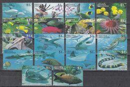 Grenada Grenadinen 1995 - Mi.Nr. 2021 - 2038 + Block 320 - 321 - Postfrisch MNH - Tiere Animals Fische Fishes - Peces