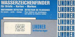 Letterscope Wasserzeichen-Sucher Neu 93€ Prüfen Von WZ Auf Briefen/Karten Check Of Stamps Paper Wmkd. LINDNER Offer 9110 - Altro Materiale