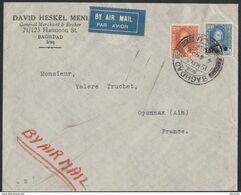 Baghdad Iraq 1932 To France Cover Air Mail Jewish Judaica - DAVID HESKEL MENI - Jewish