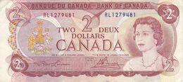 BILLETE DE CANADA DE 2 DOLLARS DEL AÑO 1974  (BANKNOTE) - Canada
