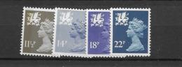 1981 MNH GB, UK, Wales, Mi 31-34, Posffris - Regionali
