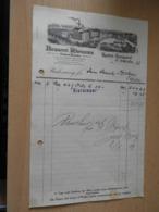 Alte Rechnung Der Brauerei Rhenania Krefeld-Königshof 1929 - Duitsland