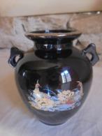 Vintage - Petit Pot Vase Noir Décoration Asiatique Années 80 - Autres
