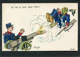CPA - Illustration Berthe - Où Vas-tu Donc Vieux Frère ? - Weltkrieg 1914-18