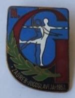 GYMNASTICS - Championship, Zagreb Croatia ( In Yugoslavia) 1957 PINS BADGES P4/4 - Gymnastics