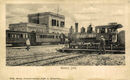 STATION JAFFA. JERUSALEM. TREN  TRAIN  TREIN. - Israël