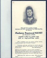 09 - 2020 - GOH - PAS DE CALAIS - 62 - MEURCHIN Près De BETHUNE - Carte Mortuaire - Mme Raymond Navet 1945 - Geboorte & Doop