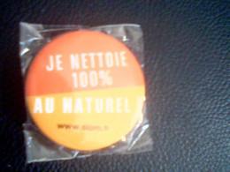 """Aimant Métal """"Je Nettoie 100 % Au Naturel"""",neuf Et Emballé - Andere"""