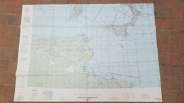 GRANDE CARTE AERONAUTIQUE ONC G-2 145 X 105 CM 04/1988 ALGERIE/ITALIE/LIBYE/MALTE/ESPAGNE/TUNISIE 1/1000000 - Other