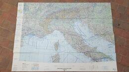 GRANDE CARTE AERONAUTIQUE ONC F-2 145 X 105 CM 07/1985 ALBANIE/AUTRICHE/FRANCE/ALLEMAGNE/HONGRIE/MONACO/SAN MARINO/ESPAG - Other