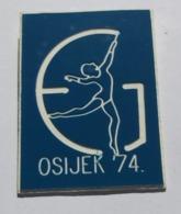 GYMNASTICS -  Osijek Drzavno Prvenstvo 1974, Ritmicka Gimnastika Croatia, Yugoslavia PINS BADGES P4/4 - Gymnastics