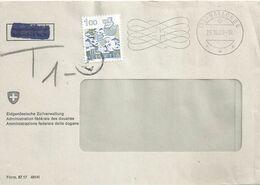 """Taxierter Brief  """"Eidg. Zollverwaltung Vallorbe""""              1989 - Covers & Documents"""