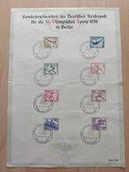 Sonderbriefmarken Der Deutschen Reichspost Für Die XI. Olympischen Spiele 1936 - Summer 1936: Berlin