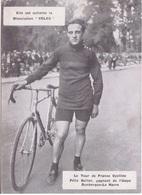 PHOTO CYCLISME - CYCLISTE  FELIX SELLIER  GAGNANT ETAPE DUNKERQUE-LE HAVRE - EDITE PAR LE FABRICANT PRESTINE-VELOX - PUB - Cyclisme