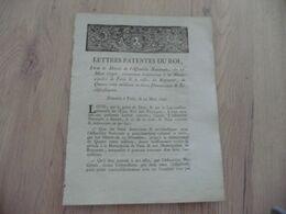 Lettres Patentes Du Roi 27/12/1764 24/03/790 Aliénation De La Municipalité De Paris - Decretos & Leyes