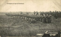 COMPAGNIE EN LIGNE DE TIRAILLEURS. CAMP DE BEVERLOO KAMP LEOPOLDSBURG BOURG LEOPOLD WWICOLLECTION - Leopoldsburg (Beverloo Camp)